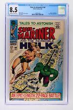 Tales to Astonish #100 - Marvel 1968 CGC 8.5 Hulk vs. Sub-Mariner. Puppet Master