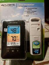 AcuRite Weather Thermometer Color Display Indoor Outdoor Temperature wireles sen