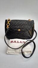 BALLY Bag. Bally Vintage Black Quilted Leather Shoulder Bag.