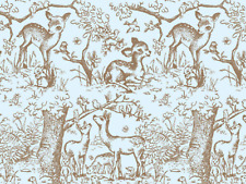 """Blue Lullaby Meadow Gift Wrap Tissue Paper, 10 Large Sheets- 20"""" x 30"""" Free Ship"""