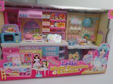 Lelia  Puppehaus Küche Spielset Geschenk für ab 3 Jahre mit und ohne Puppe
