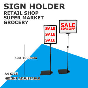 NEW A3 A4 A5 Floor Sign holder frame stand grocery supermarket retail display