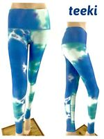 Teeki Blue Fairy Bath Hot Pants Leggings Size Medium