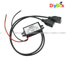 12V to 5V Dual USB Power Adapter Converter Cable Connector Car Charger Module