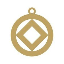 """Narcotics Anonymous Recovery Keychains Na Gold Plated Symbol Key Tag 1 1/2"""""""