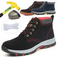 Men Ventilated Work Boot Safety Ankle Boot Steel Toe Protective Footwear Trainer