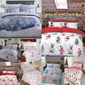 Christmas Duvet Quilt Cover Set Single Double King Size New Animal Xmas Bedding