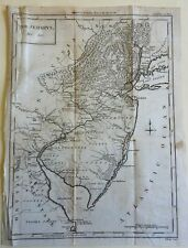 New Jersey State Map 1788 Conder engraved map
