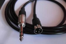 3 Pin Din Plug > 6,35 Stereo Jack Audio - Connection Cable 4,0 Meter