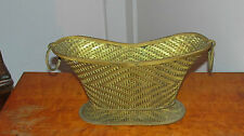 Antique French ? Woven Bronze Decorative Basket
