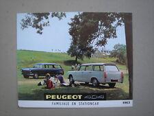 PEUGEOT  404  Familiale and Stationcar  brochure/Prospekt 1963.
