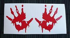 adesivo mano dita sticker decal vynil vinile auto moto fingers hand blood sangue