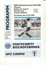 OL 89/90 Fortschritt Bischofswerda - HFC Chemie