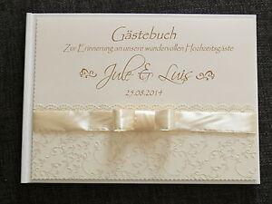 """Gästebuch Hochzeit """"Classic Schleife"""" Geschenk"""