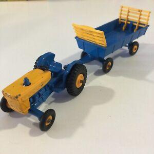 39C & 40C BLUE YELLOW Ford Farm Tractor & Hay Trailer 1967 Lesney Matchbox 1:64