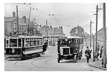 pt0513 - Tram & Bus in  Montgomery Road , Wath , Yorkshire - photo 6x4