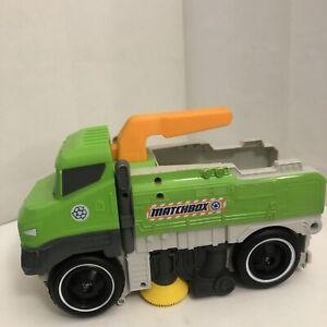 "Mattel Matchbox Sweep N' Keep Toy Truck Green Recycle Street Sweeper 12""x8.5"""