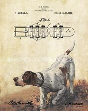 Pheasant Hunting Patent Poster Art Print English Pointer Dog Collar Pet PAT439