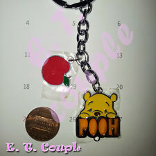 1 Winnie Pooh adorable Love apple couple cell phone strap pendant Disney keyring