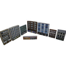 More details for 1:220 card z gauge model railway town shops pack of 8 x buildings (p-t-004) int