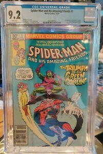 CGC 9.2 Marvel #1 Spider-Man and His Amazing Friends 1981 1st FireStar Newsstand