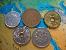 5 monedas diferentes de JAPON