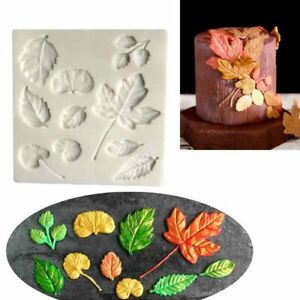 Leaves Leaf Silicone Cake Decor Fondant Sugarcraft Mould Chocolate Baking Mold