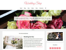 [NEW DESIGN] * WEDDING STORE * niche blog website business for sale AUTO CONTENT