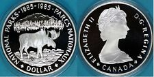 Canada 1985 Large Silver Proof $1-Moose