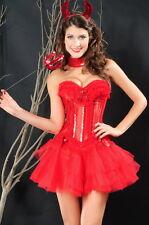 Devil Burlesque Red Sequin Corset Bustier Tutu Choker Valentines XL 5250