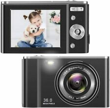 1080P Vlogging LCD Mini HD Digital Camera with 16X Zoom 36MP Digital Point Black