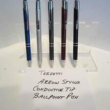 SET OF 5 TERZETTI ARROW-CT-BALLPOINT PEN--CONDUCTIVE TOP-USES PARKER REFILL