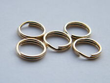 5x-9ct Oro Amarillo 5mm Split rings-findings-charm bracelets-jump ring-not Chatarra