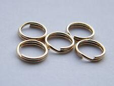 10x-9ct Yellow Gold 5mm Split Rings-Findings-Charm Bracelets-Jump Ring-Not Scrap