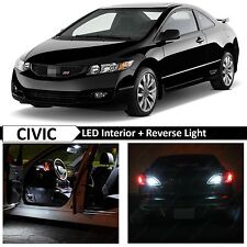 White Interior Reverse LED Light Package Kit 2006-2012 Honda Civic Coupe