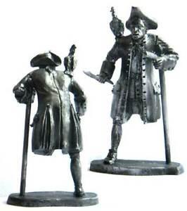 "Pirate John ""Long"" Silver, XVII-XVIII cc. Tin toy soldier 54 mm. metal"