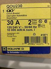 Square D Qou230 30 Amp 2 Pole 120/240V Circuit Breaker Yellow Face