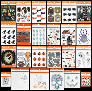 Recollections HALLOWEEN Stickers Bling Skull Pumpkins Spider Ghost Bat Cat Witch