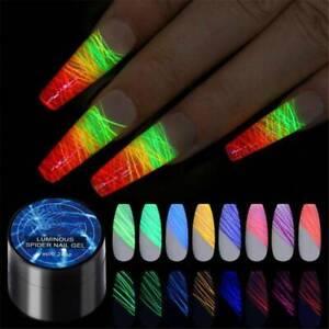 Nail Luminous Spider UV Gel Nail Polish Neon Fluorescent Effect Gel 7ML