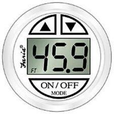 Faria Boat Depth Finder/Sounder/Transducer & Digital Dress White Gauge FAR 13150