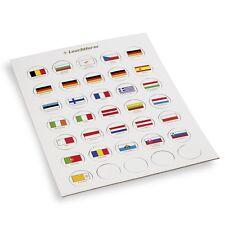 Jeton de drapeaux appropriés pour 2 euro capsules 26 - LEUCHTTURM   Réf  333463