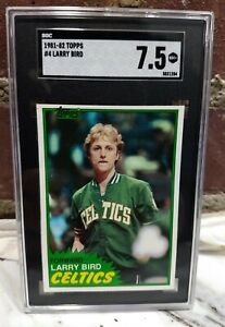 1981 - 1982 Topps Larry Bird NM SGC 7.5 SHARP #4 Boston Celtics