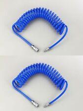 2x Professionnel Tuyau en Spirale à Air Comprimé 10 x 14mm 15 Mètre D'Air 10x14