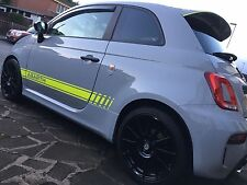Fluorescent Yellow Abarth 500 595 Side Stripes Decals Stickers