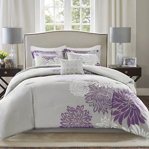 Comfort Spaces Enya Comforter Set-Modern Floral Design All Season Down Alternati