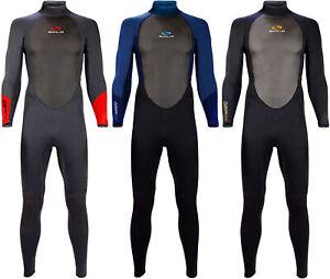 Sola Fusion 3/2 Mens Adult 3mm Full Length Wetsuit Steamer Surf Kayak Watersport