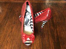 IRON FIST Stiletto Peep-toe Pump Red Sequin Dorothy Wizard of Oz