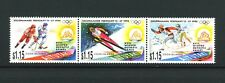 Winter Olympics strip of 3 mnh stamps 1994 Aitutaki Lillehammer Norway hockey