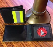 Bunker Gear Black Firefighter Wallet - Firefighter Wallet Gift
