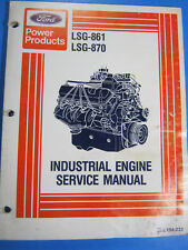 FORD LSG 861 870 ENGINE SERVICE MANUAL 194-232 1979 MANUAL